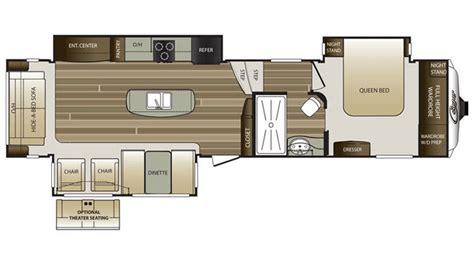 keystone cougar floor plans 2017 keystone cougar 333mks floor plan 5th wheel