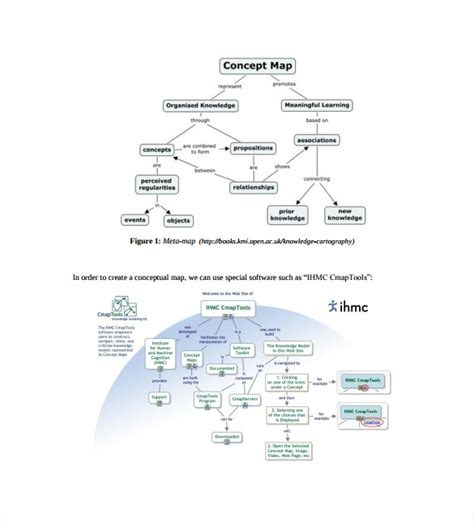 concept map word template sle concept map template 10 free documents in pdf word