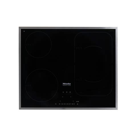miele induction hob lewis buy miele km6322 induction hob flat stainless steel trim marks electrical