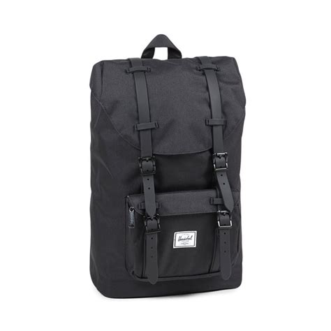 Original Herschel America Backpack Black herschel america mid volume rubber classic backpack black black 109 00 accessories