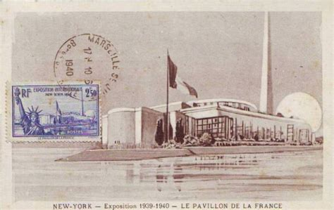 le pavillon new york timbre exposition internationale new york 1939 le