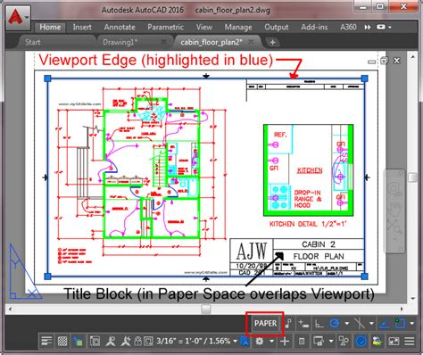 Viewport In Layout Autocad | layouts and plotting in autocad 2016 tutorial and videos