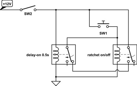 Latching Single Push Button Relay With Reset