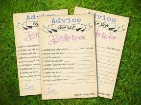 Bridal Shower Advice Cards Template by Etsy Template2
