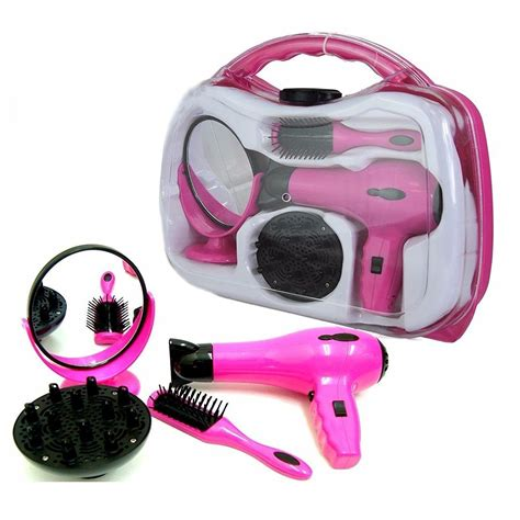 Battery Operated Hair Dryer battery operated hair dryer play set in carry