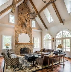 vaulted great room farmhouse great room family room farmhouse with modern