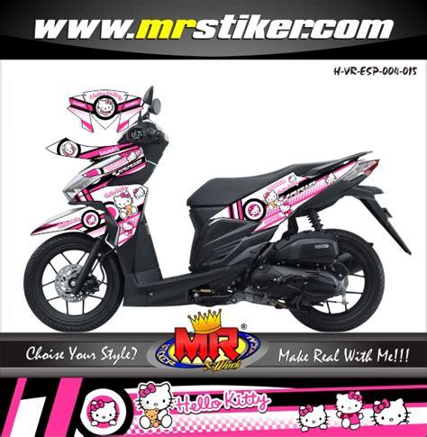 Decal Sticker Honda Spacy Hello Pink Putih Dsgs54 vario esp hello stiker motor striping motor suka suka decal motor mr stiker