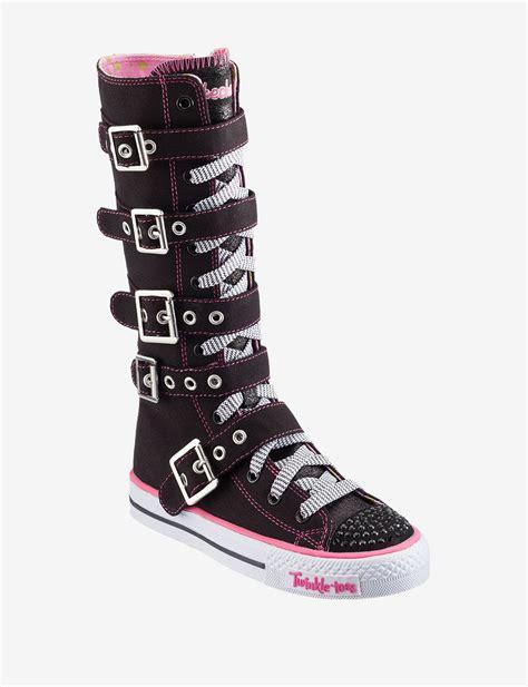 skechers knee high sneakers skechers twinkle toes knee high boots