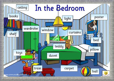 through bedroom vocabulary