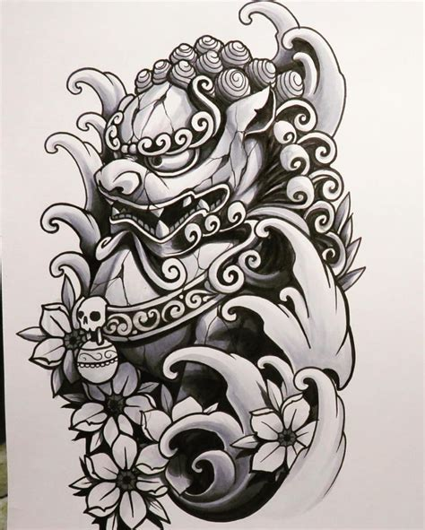 fu dog tattoo designs foo jq johnq foodog shishi japanesetattooart