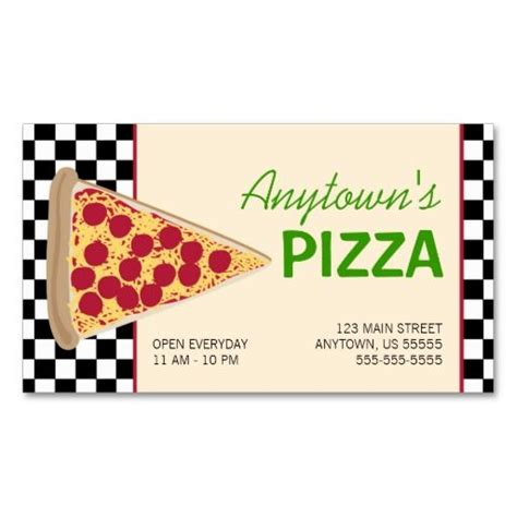 pizza business card template 271 best black and business cards images on