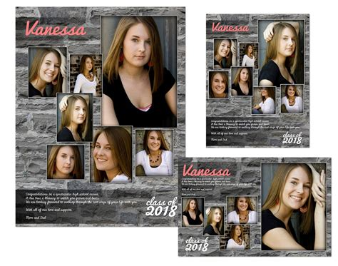 yearbook ad layout yearbook senior ads arc4studio