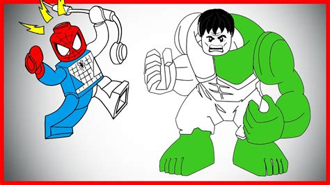 coloring pages of lego hulk lego hulk and spiderman coloring page let s color
