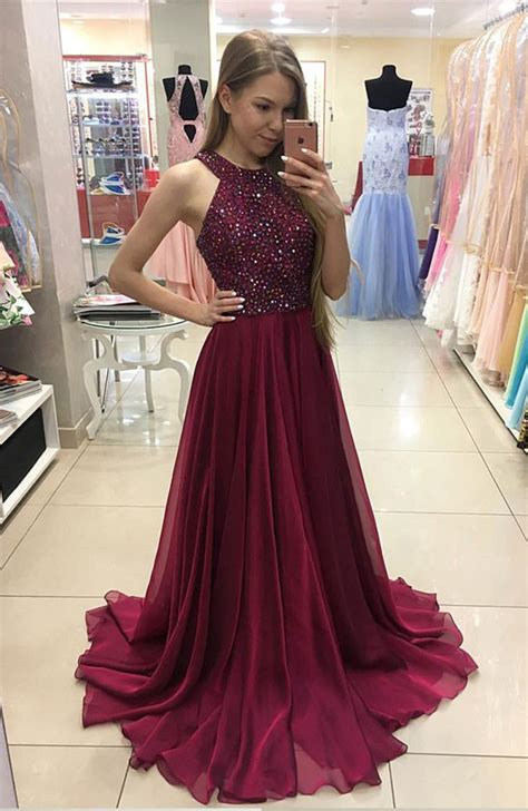 burgundy color prom dress burgundy chiffon prom dresses 2017 pageant senior