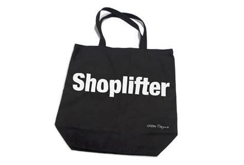 shoplifter tote bag  green head
