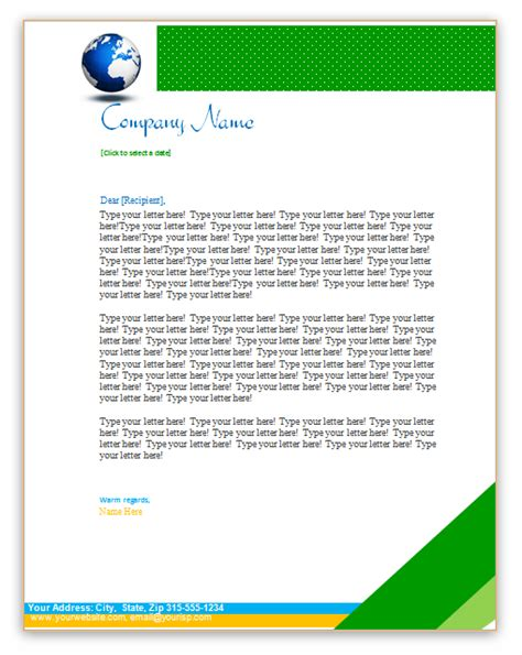 headed business letterhead template free letterheads archives free letterhead templates