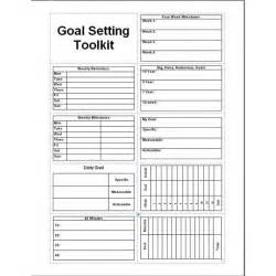 Goal Planning Template by Daily Planner Template Printable Free Goal Setter Goal