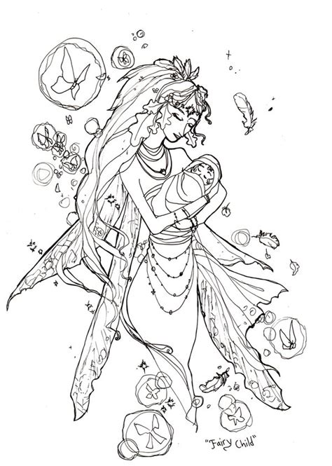 coloring books beautiful fairies 35 unique illustrations books book sketch child by angelasasser on deviantart