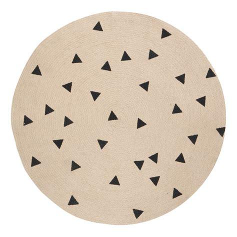 schwarzer runder teppich runder teppich schwarze dreiecke 100 cm ferm living