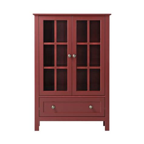 2 Door Cabinet With Drawer by Homestar 2 Door 1 Drawer Glass Cabinet Walmart Ca