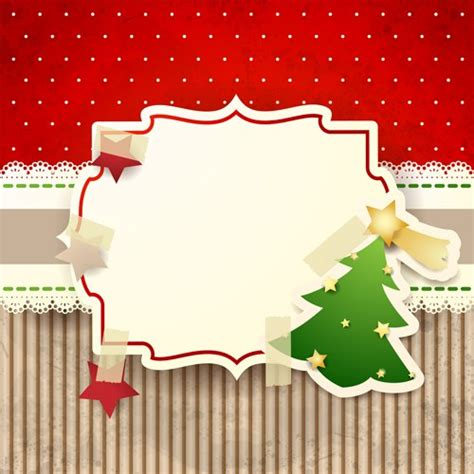 cute christmas cards with frame vector set 01 over