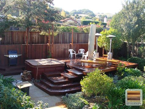 how to level backyard for pool backyard decks for small yards amys ideas with deck