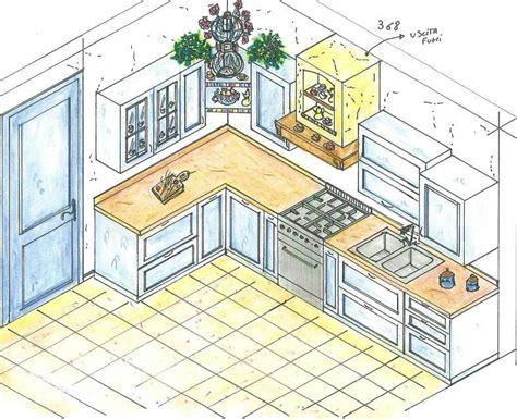 cucina disegno disegni di cucine progetti la cucina domina il soggiorno