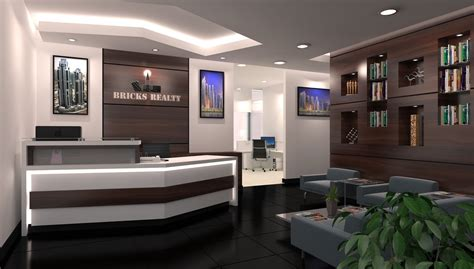 simple european style sales office reception room interior home office modern office reception design reception