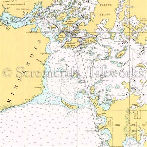 Coastal Decor Area Rugs Minnesota Oak Island Lake Of The Woods Nautical Chart
