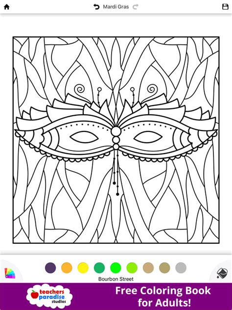 coloring books for adults app app shopper coloring book for adults mardi gras