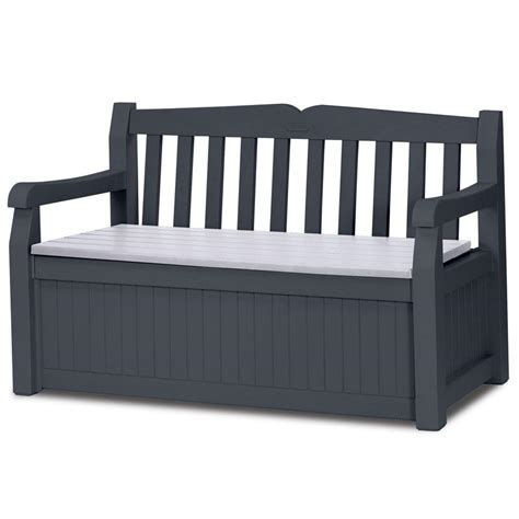 banc coffre 265l gris anthracite keter