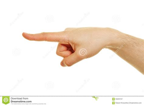 how to finger side view of hand with pointing index finger stock image