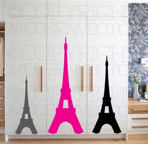 eiffel tower theme vinyl wall decal designs decor