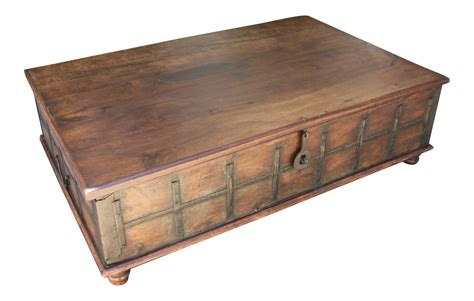 Rustic Storage Coffee Table Rustic Style Coffee Table With Storage Inside Chairish