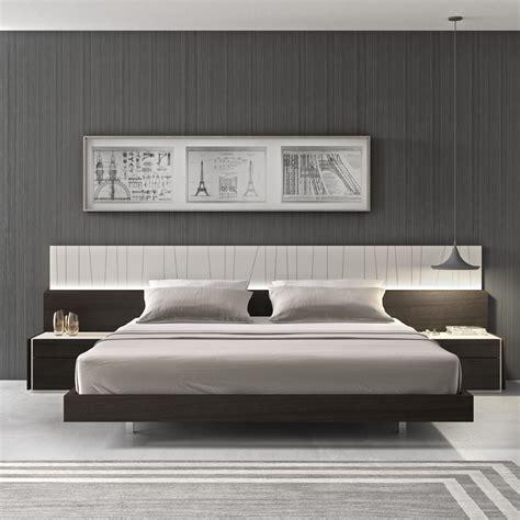modern king size bed platform frame w led lighting beds free shipping porto platform bed with nightstands
