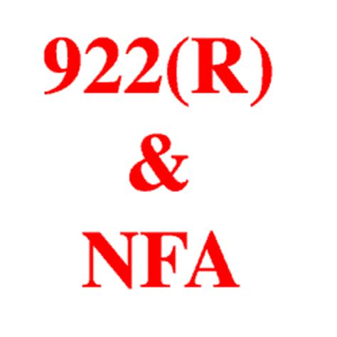 title 18 section 922 does 922 r apply to sbrs gun club