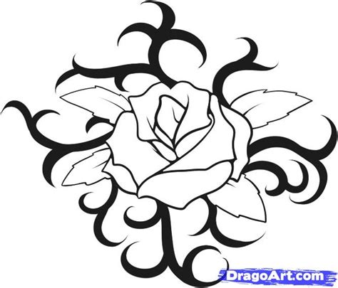 how to draw rose tattoos draw a step by step drawing sheets added by