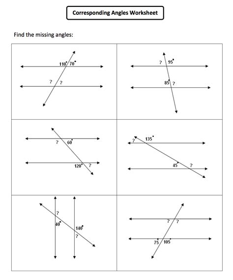Line And Angle Relationships Worksheet Answers by Angles Parallel Lines Worksheet Worksheets