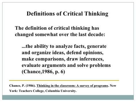 what is the definition of template critical thinking definition for high school students