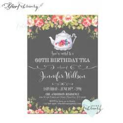 birthday tea party invitation vintage tea by