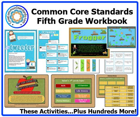 Common Standards Math 5th Grade Worksheets by Fifth Grade Common Workbook Paperback