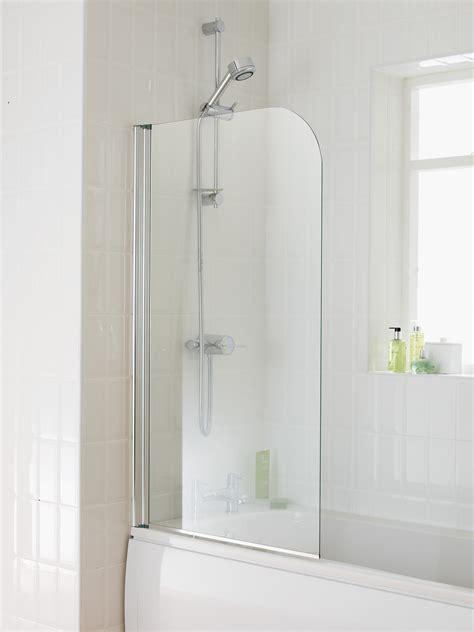 Bathroom Shower Screen Essential Element 750 X 1300mm Single Panel Bath Screen