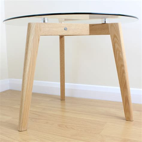 modern high end round wooden with glass top complete solid oak clear glass modern round side end table coffee