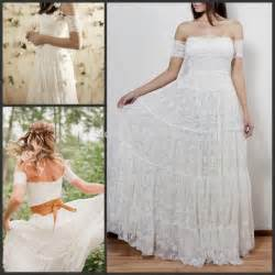 2016 rustic lace bohemian wedding dresses strapless off