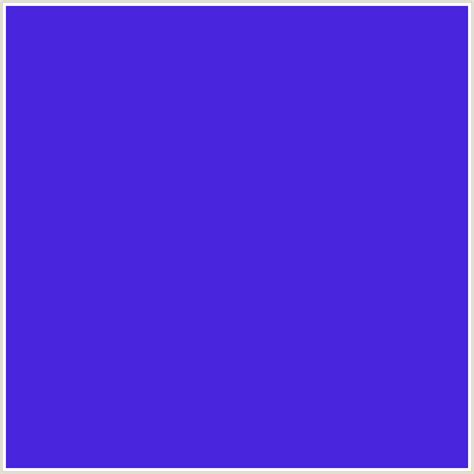 blue purple color 4a25de hex color rgb 74 37 222 blue violet purple