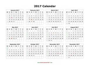 year at a glance calendar template year at a glance calendar 2017 free printable free