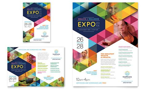 design free ad health fair flyer ad template design