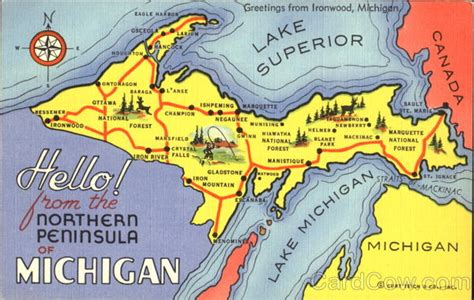 Gift Card Map Nominal 50ribu hello from the northern peninsula of michigan royalty