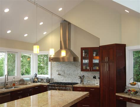 vaulted kitchen ceiling lighting kitchen with vaulted ceilings