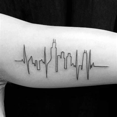 atlanta skyline tattoo chicago skyline tattoos chicago